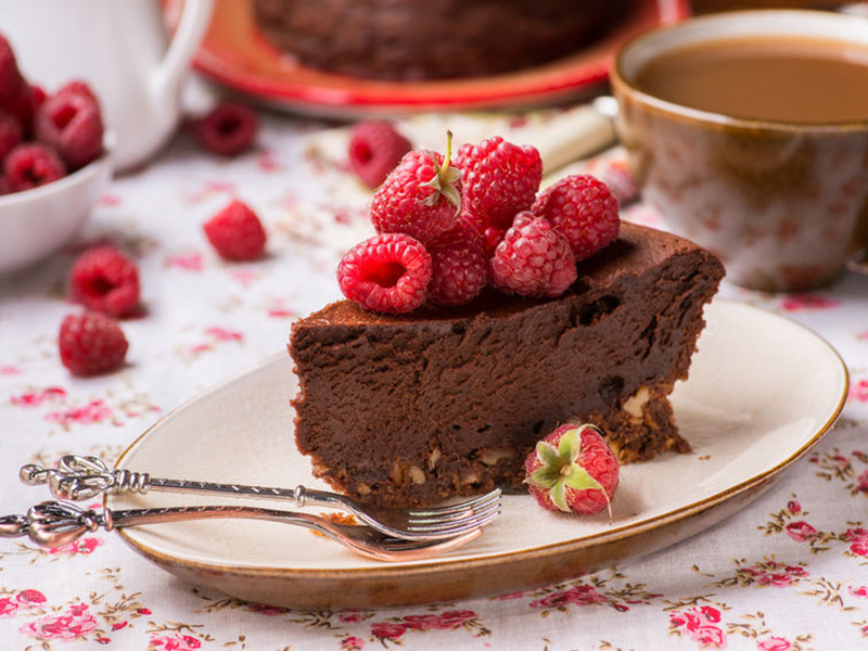 Dark Chocolate Silk Pie