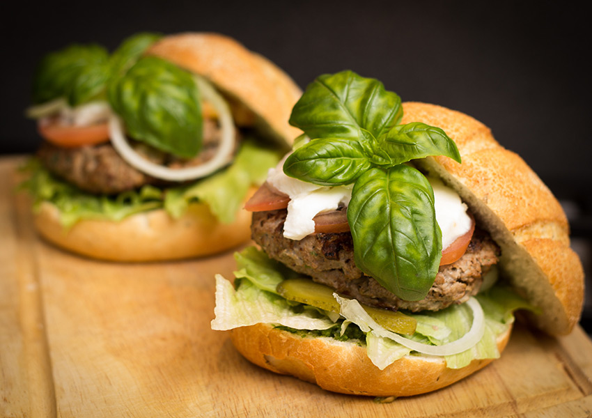 Lamb Burgers with Fresh Herbs