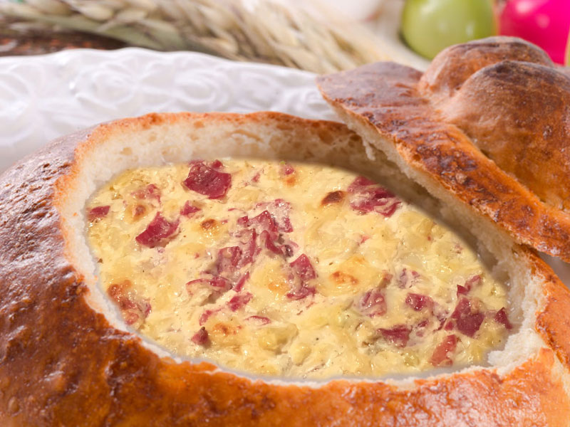 Rueben Dip in a Bread Bowl